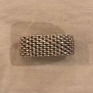 Tiffany mesh ring size 7, no jewelry pouch